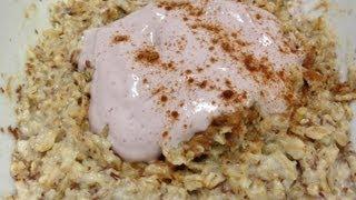 Peanut Butter &amp Jelly Oatmeal Recipe - HASfit Kids Healthy Breakfast Recipes - Breakfast Ideas