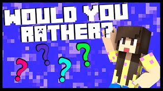 BIGGS87X is a THIEF! - Minecraft: WOULD YOU RATHER?