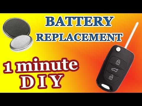 Замена батарейки в ключе Хундай i10, i20, ix20, i30, ix35,  i40, Туксон, Солярис, Акцент