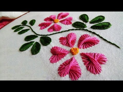 Hand Embroidery: Butterfly stitch