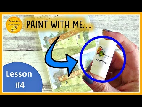 LESSON 4 watercolour with me- Trip to Italy STEP by STEP painting book for beginners | WAX RESIST