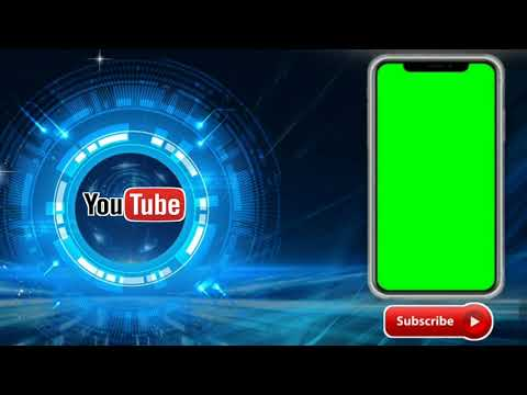 No copyright green screen mobile frame |with background technology music