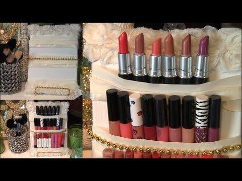 DIY Cute Makeup/Lipstick Holder Display