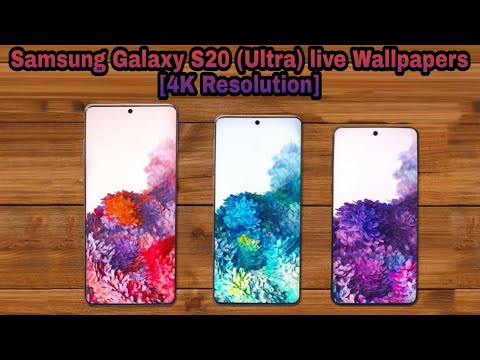 Samsung Galaxy S20 Ultra Live Wallpaper 4k With Download Link Youtube