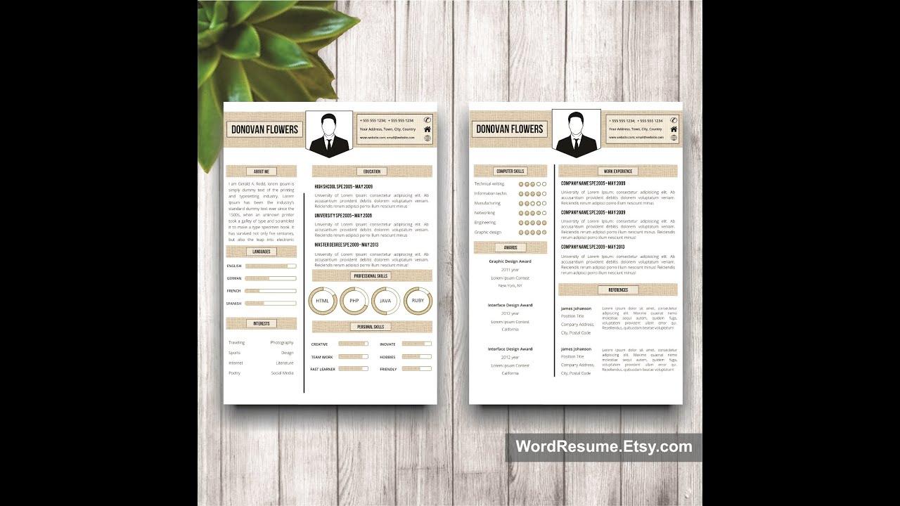 word curriculum vitae template