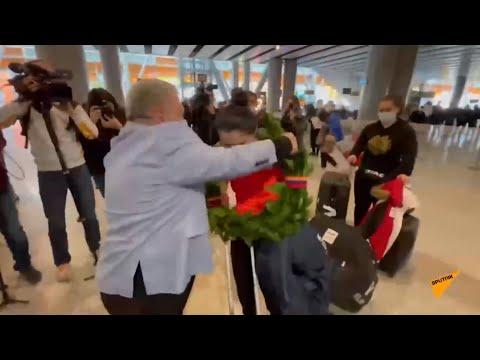 Армянские тяжелоатлеты вернулись с чемпионата Европы в Москве