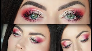 Peach and Fuschia Cut Crease Makeup Tutorial