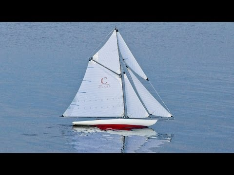 Beautiful and iconic style: Classic cutter sailing model yacht, radio controlled