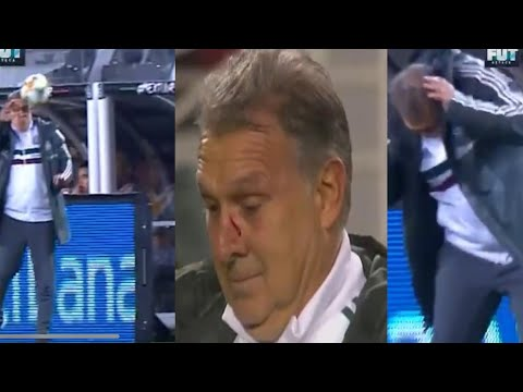 TREMENDO BALONAZO al TATA MARTINO por parte del Técnico De Paraguay - Mexico vs Paraguay 4-2 2019