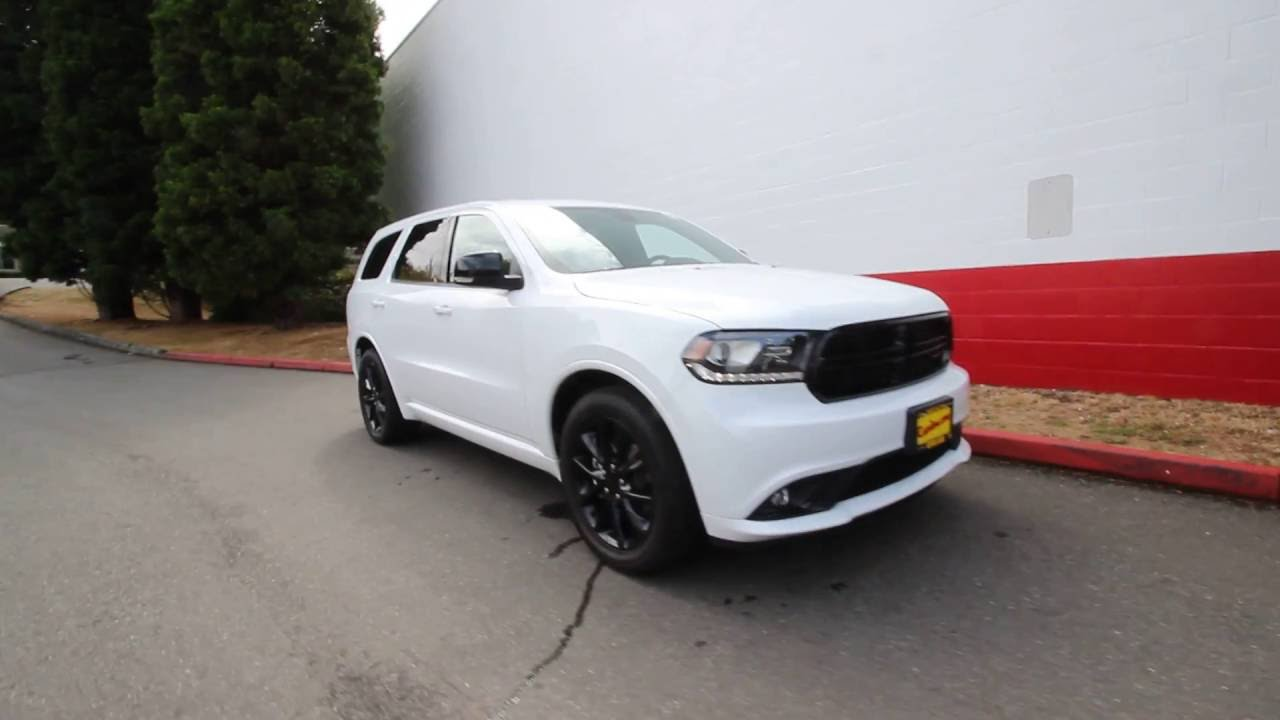 2017 Dodge Durango R T Awd White Knuckle Clear Coat Hc615332 Redmond Seattle