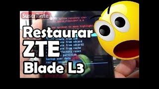 Cómo restaurar el ZTE Blade L3 al estado de fábrica Español