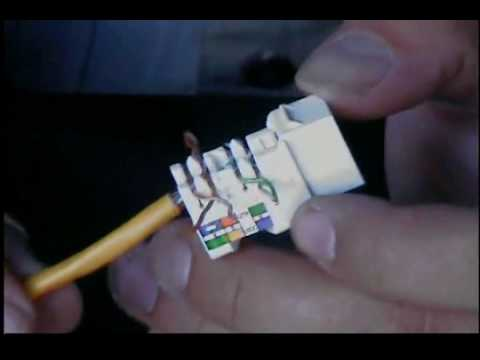 Rj45 Wiring Diagram Socket Simple For Light Bar Cat3 Kwik Jack Keystone And Tool - Youtube