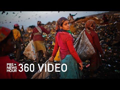 360 video: Take a stroll through 'Trash Mountain'