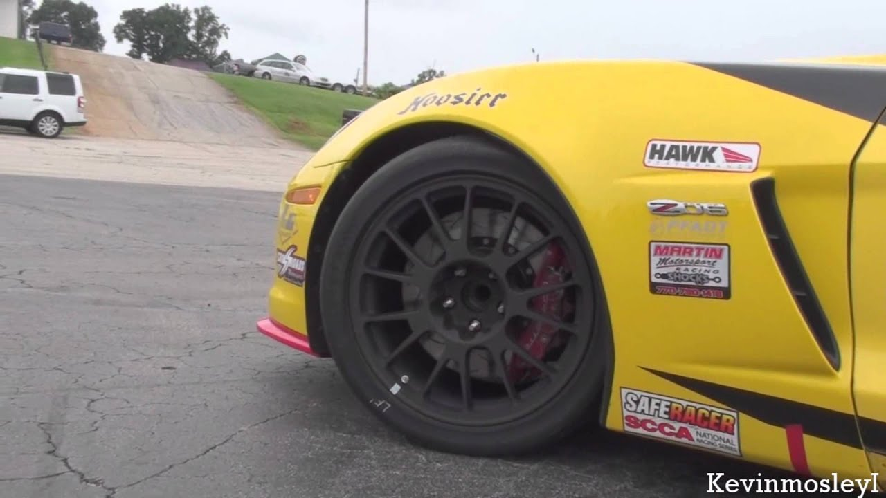 Corvette C6 Z06 Race Car sound - YouTube