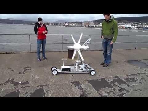 Wind Turbine Powered Car Test