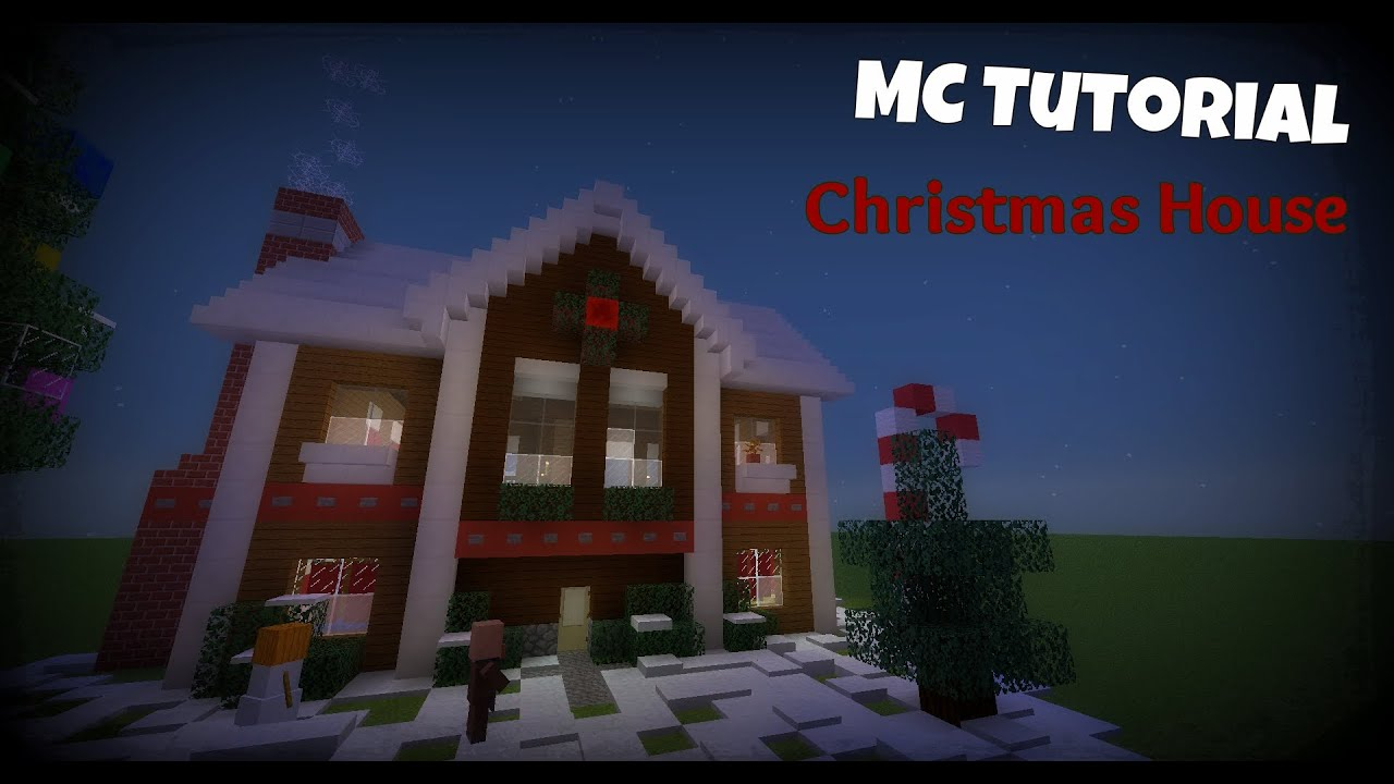 Minecraft Christmas Houses.Minecraft Tutorial Christmas House