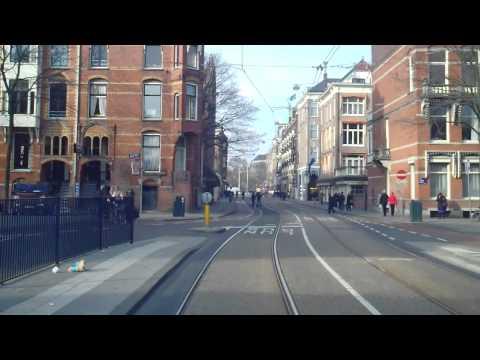 GVB Amsterdam Tramlijn 2 Achteruitrit, Centraal Station - Nieuw Sloten