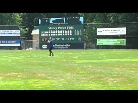 Chad Cordero @ Big Train Celebrity Camp throwing long toss w/ Willie Stargell
