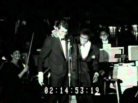 Frank Sinatra Sammy Davis Dean Martin at the 1960 Sands Summit 2nd Night 2