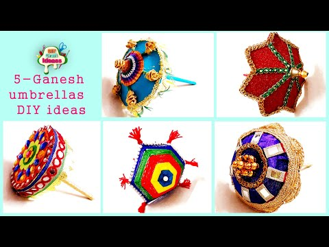 5 Ganesh umbrellas DIY ideas | how to make Ganesh Umbrella from waste | Best out of waste