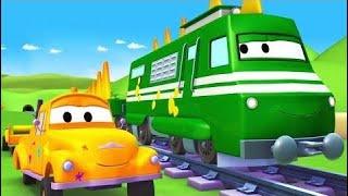 Carl el Super Camión y el Camión Policía en Auto City Dibujos animados Dibujos animados para niños