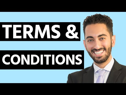 Terms and Conditions - How to Create a Terms and Conditions Agreement for your Website
