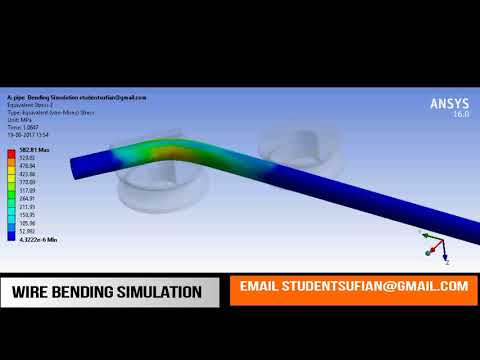 pipe/wire/tube-bending-simulation-using-two-contact-support-in-ansys-workbench