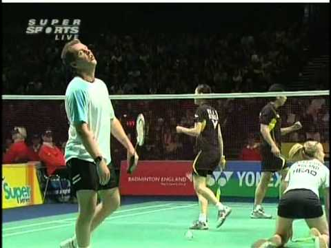 all england open 2009 Sung Hyun KO Jung Eun HA vs Anthony CLARK Donna KELLOGG All England Open 2009 Quater Final1