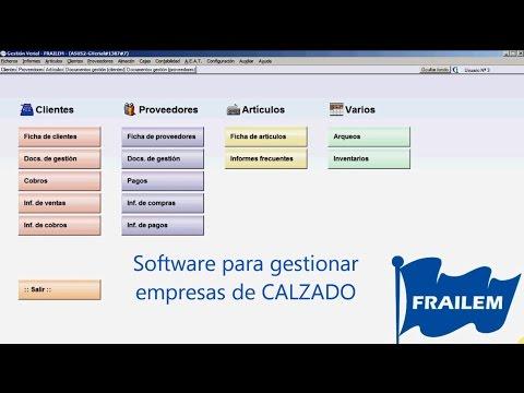 Software para pequeños fabricantes de Calzado