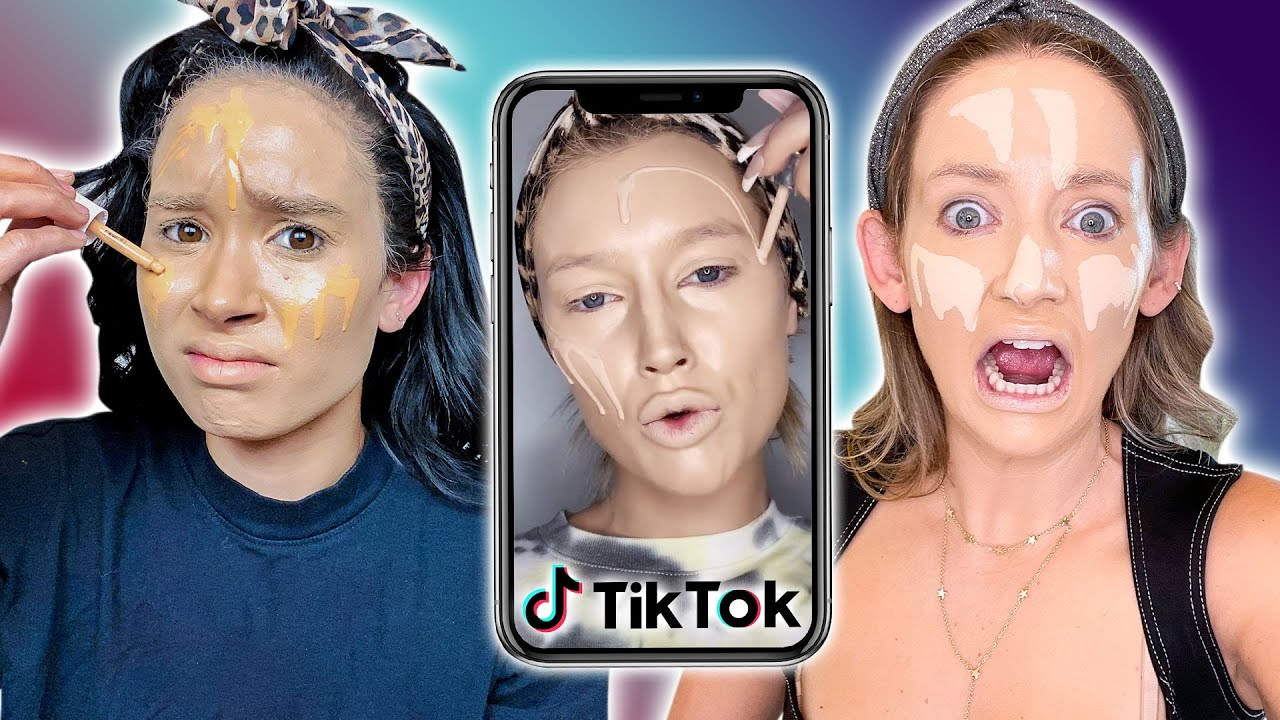 Trying A CRAZY TikTok Foundation Hack *does it work?!*