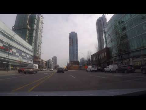 All over VANCOUVER: Downtown Burnaby BC, Canada - Driving in the City on Kingsway - Metrotown
