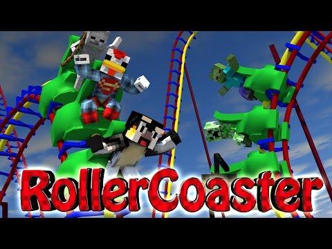 Minecraft | ROLLER COASTER CHALLENGE - Roller Coaster Disasters! (Rollercoaster Mod)
