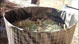 Садовый компостер своими руками.(Изготовление компостера из простых материалов,не требующее строительных навыков., 2012-10-23T07:44:49.000Z)