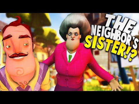 THE NEIGHBOR HAS A SISTER TOO AND SHE'S A SCARY TEACHER?! | Hello Neighbor Mobile Game Rip Off