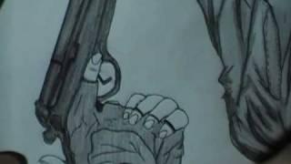 Sharlto Copley Drawing 3 - District 9 - Wikus van de Merwe