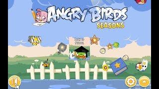 Angry Birds Seasons. Back to School (level 1-6) 3 stars Прохождение от SAFa
