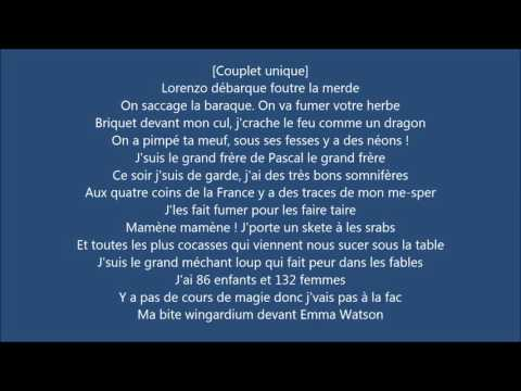 Lorenzo - Freestyle du Sale (paroles)