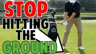 Golf Lessons | Stop Hitting the Ground Before the Ball