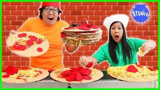Shion & Loan Team Up in Pizza Conveyor Belt CHALLENGE!