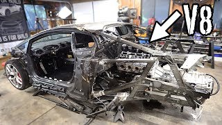 Download Mounting the V8 LS Engine and Manual Transmission In the Huracan!! Mp3 and Videos