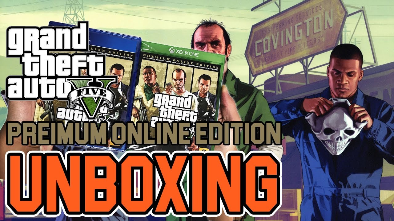 Grand Theft Auto V(5) Premium Online Edition (PS4/Xbox One) Unboxing!!