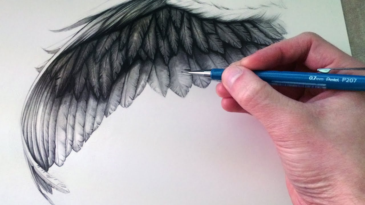How To Draw Realistic Angel Wings
