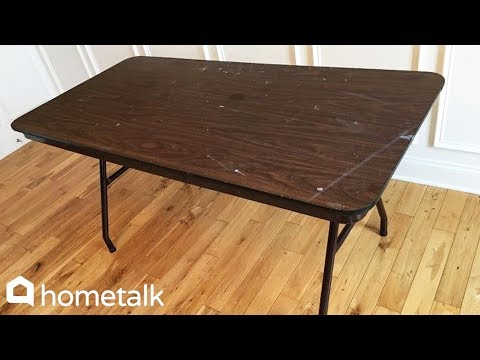 How to Fake a Farmhouse Table With a Folding Table