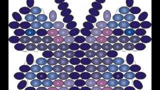Принцип мозаичного плетения бабочки. Бисерный мульт