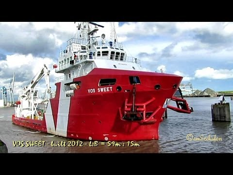 VOS Sweet PCPE IMO 9601522 Emden Germany diving support vessel