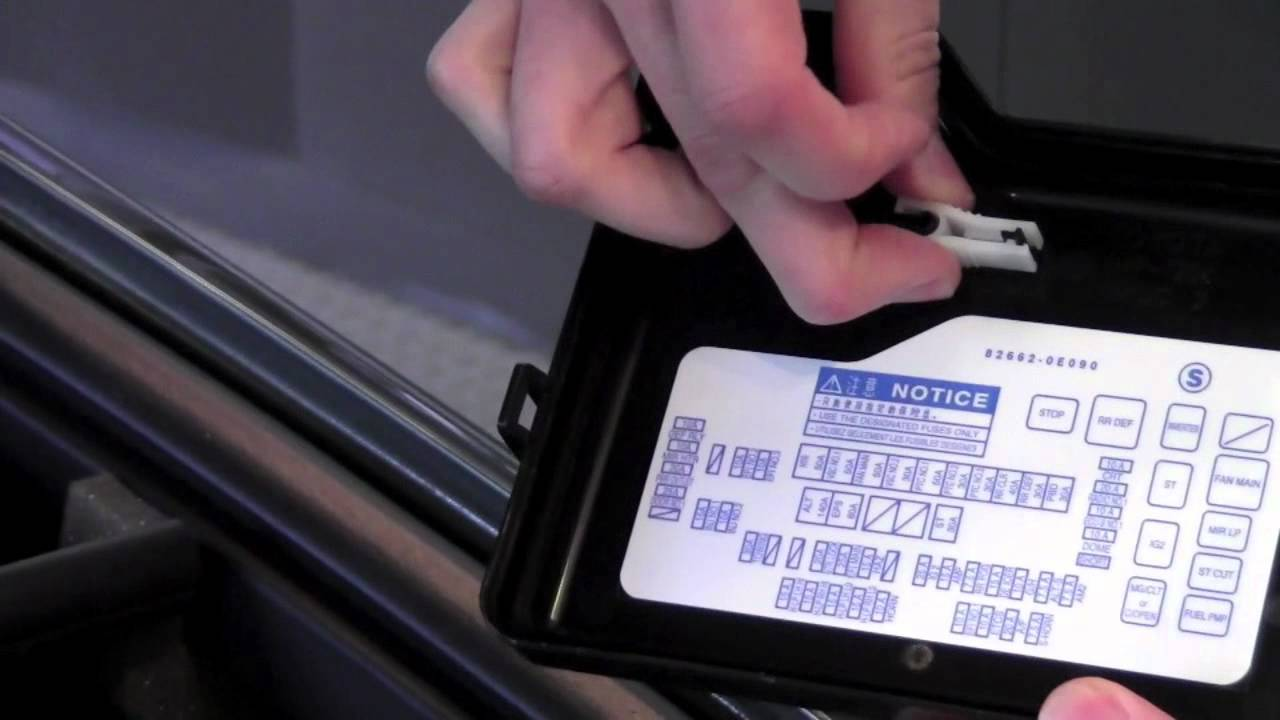 2012 | Toyota | Highlander | Fuses Under The Hood | How To