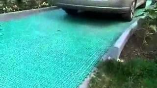 видео Тротуарная плитка под автомобиль