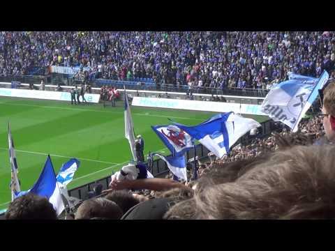 FC Schalke 04 gegen Borussia Dortmund (Aufstellungen+Stimmung+Einlauf)