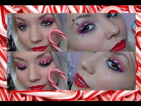 candy cane holiday inspired makeup look☃  youtube