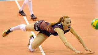 Top 15 Women's Volleyball CRAZY Action | Rally Digs Saves